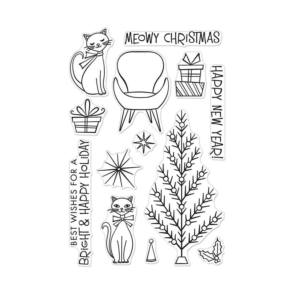 Hero Arts Clear Photopolymer Stamps Meowy Christmas
