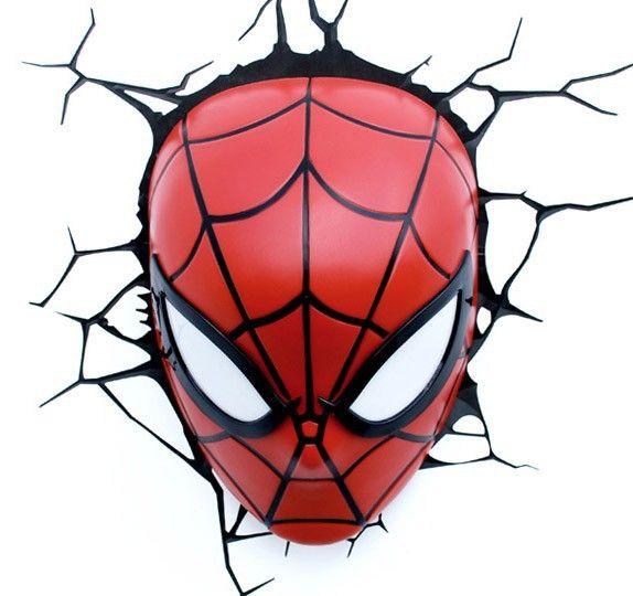 Lampe murale 3d marvel spider man en 2019 d coration maison parement mural spiderman et - Deco chambre spiderman ...