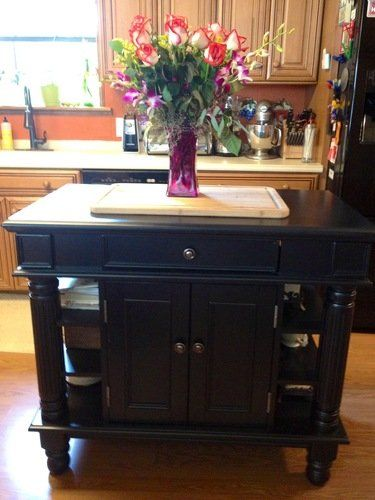 Awesome Amazon.com   Home Styles 5092 94 Americana Kitchen Island, Black Finish