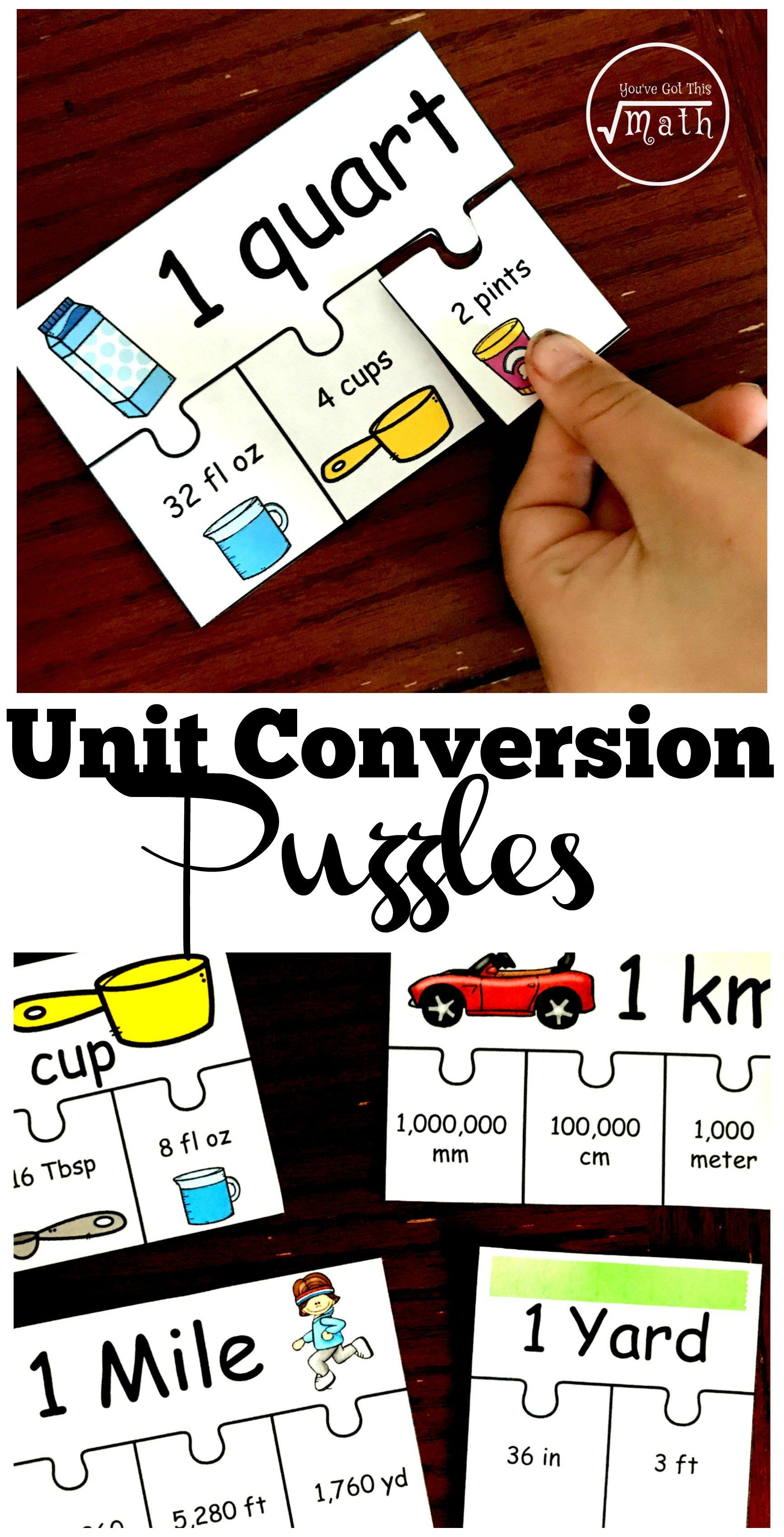 These 10 Puzzles Are A Perfect Unit Conversion Activity
