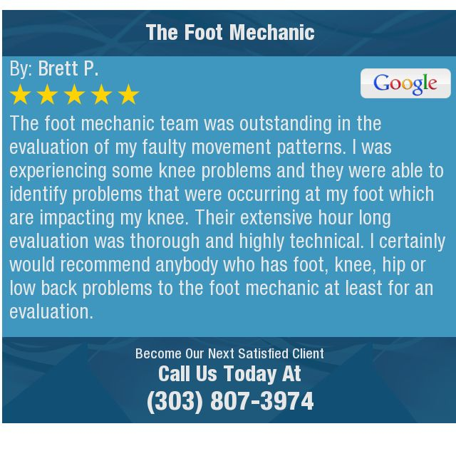 The foot mechanic team was outstanding in the evaluation of my - technical evaluation