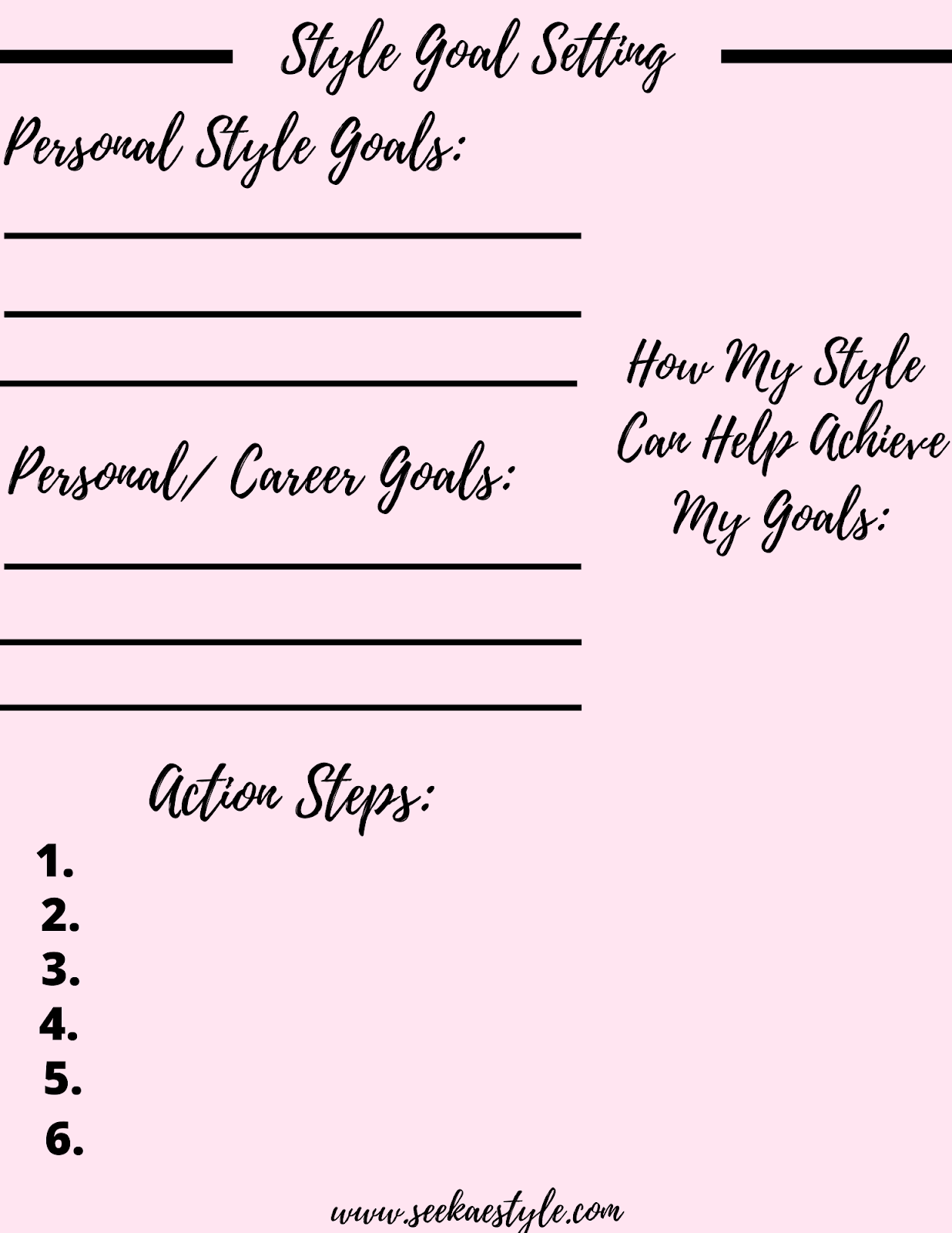 Style Goal Setting For