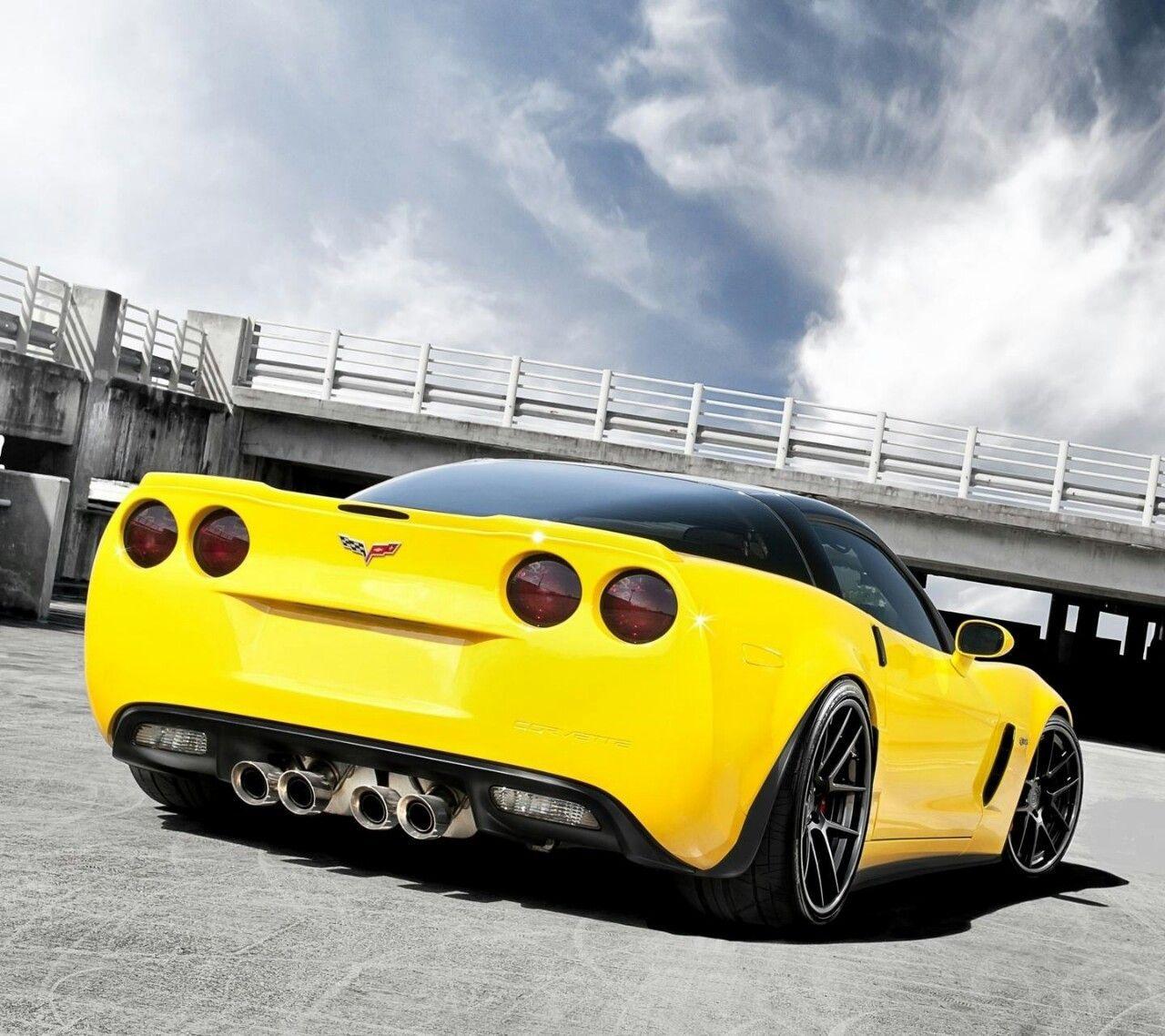 Corvette Zr1 Yellow Vette Chevrolet Corvette Corvette Zr1