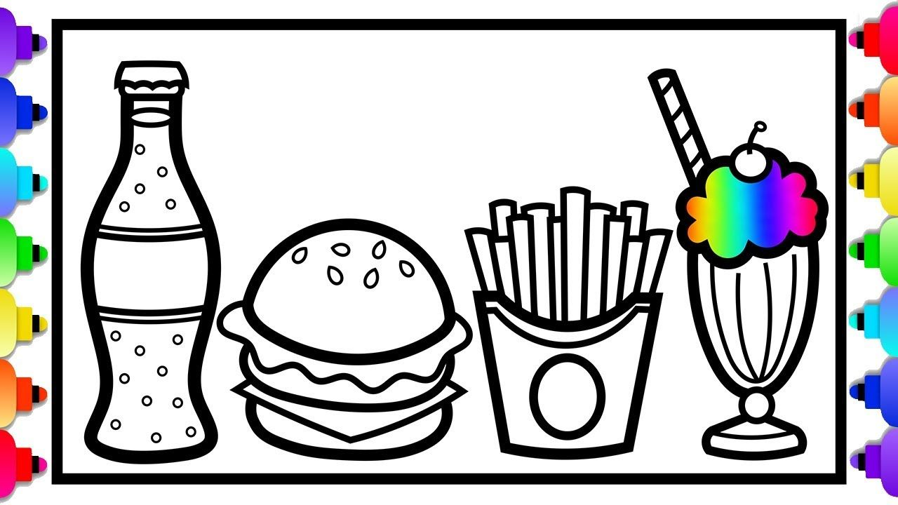 How To Draw Happy Meal For Kids Learn To Draw Hamburger