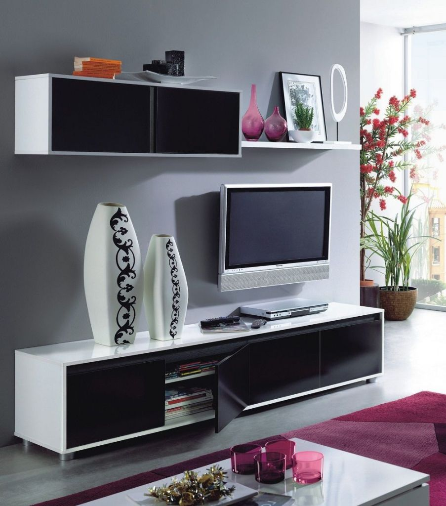 Nice White Gloss Living Room Cabinets Pertaining To Residence Check More At
