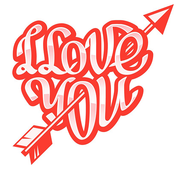 love you arrow | arrow, greeting words and emoticon