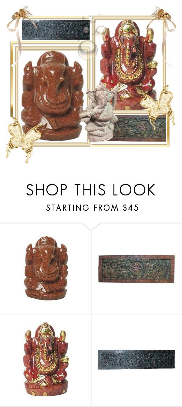 Hindu Ganesha Good Luck Statue By Baydeals Liked On Polyvore Featuring Interior Interiors Design Home Decor Decorating