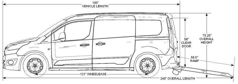 Vehicle Dimensions Nor Cal Vans Transit Connect Adaptive Van Estimated Specifications Cargo Van Van Vans