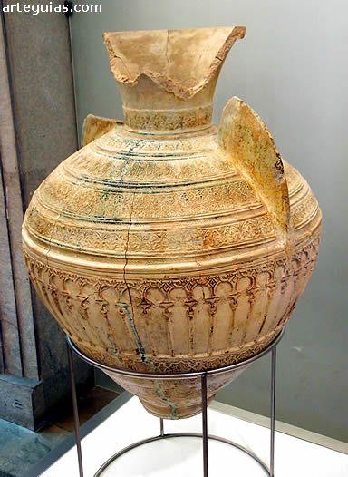 Tinaja de cer mica vidriada hispanomusulmana museo for Marfil ceramica madrid