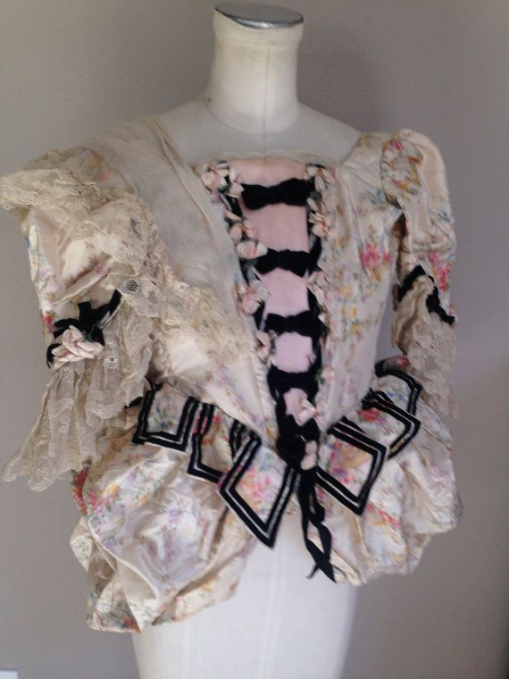 French silk opera costume bodice by Marie Muelle