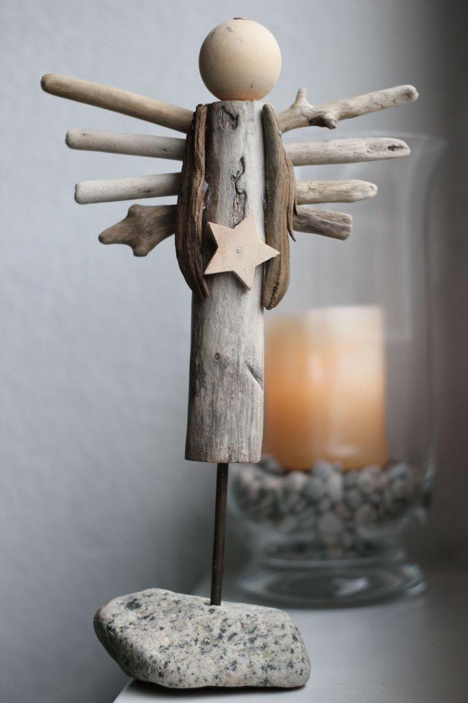 Treibholz Engel Kunst Weihnachten – Treibholzkunst