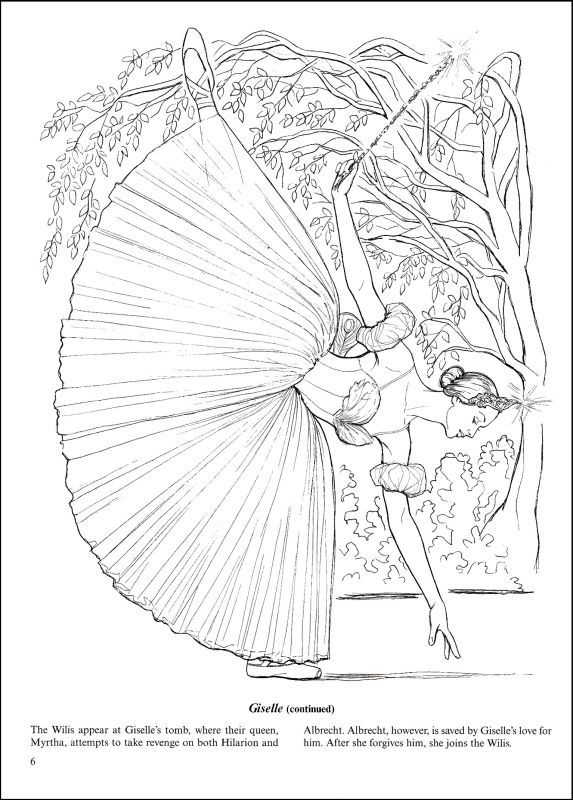 Favorite Ballets Coloring Colouring Pinterest Adult coloring - best of fairy ballerina coloring pages