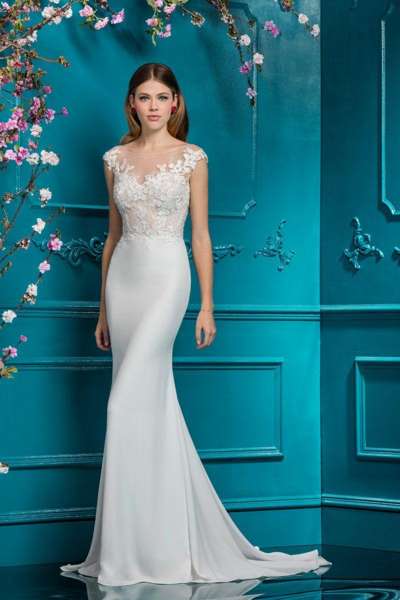Slim Illusion wedding Dress | Style 18082 #pittsburgh | All dresses ...
