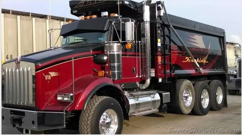 Kenworth Custom T800 Tri Axle Dump Dump Trucks Kenworth Trucks