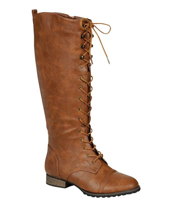 Tan Outlaw Lace-Up Boot