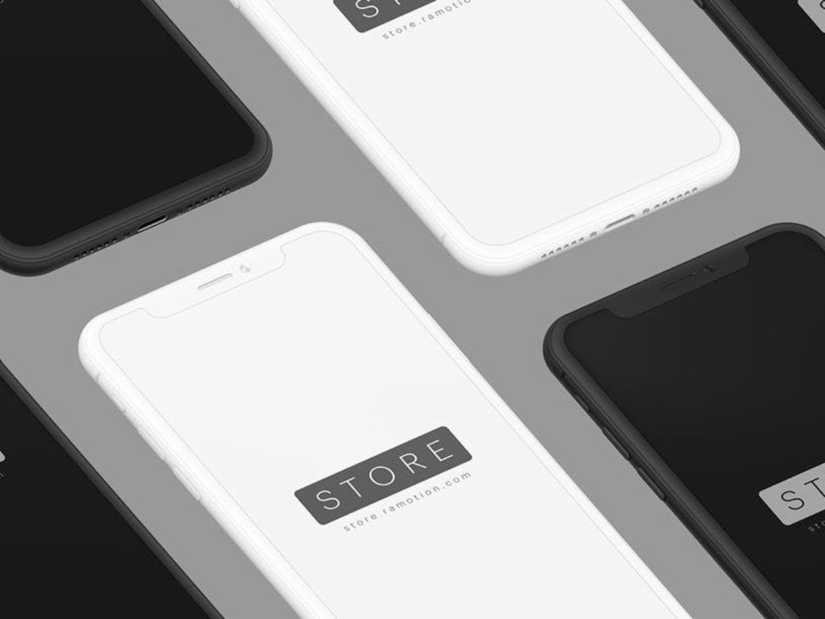 iPhone X Mockup Clay Styles PSD + Sketch App FreeUI