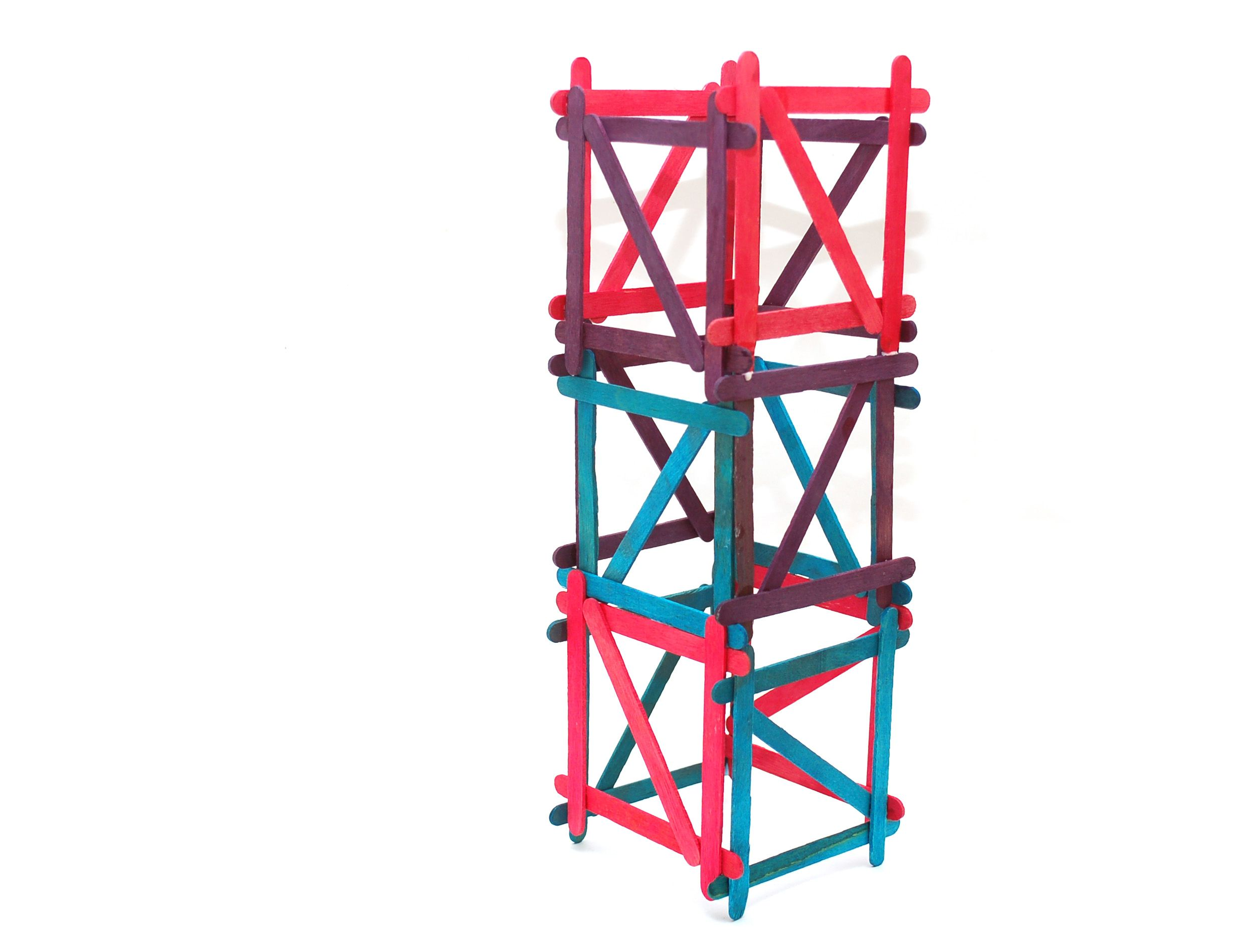 Build a popsicle stick tower tower popsicle stick for Ideas for building with popsicle sticks