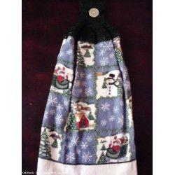 Hand Crochet Top Hand Kitchen Dish Towels NEW - SANTA/SNOWMAN