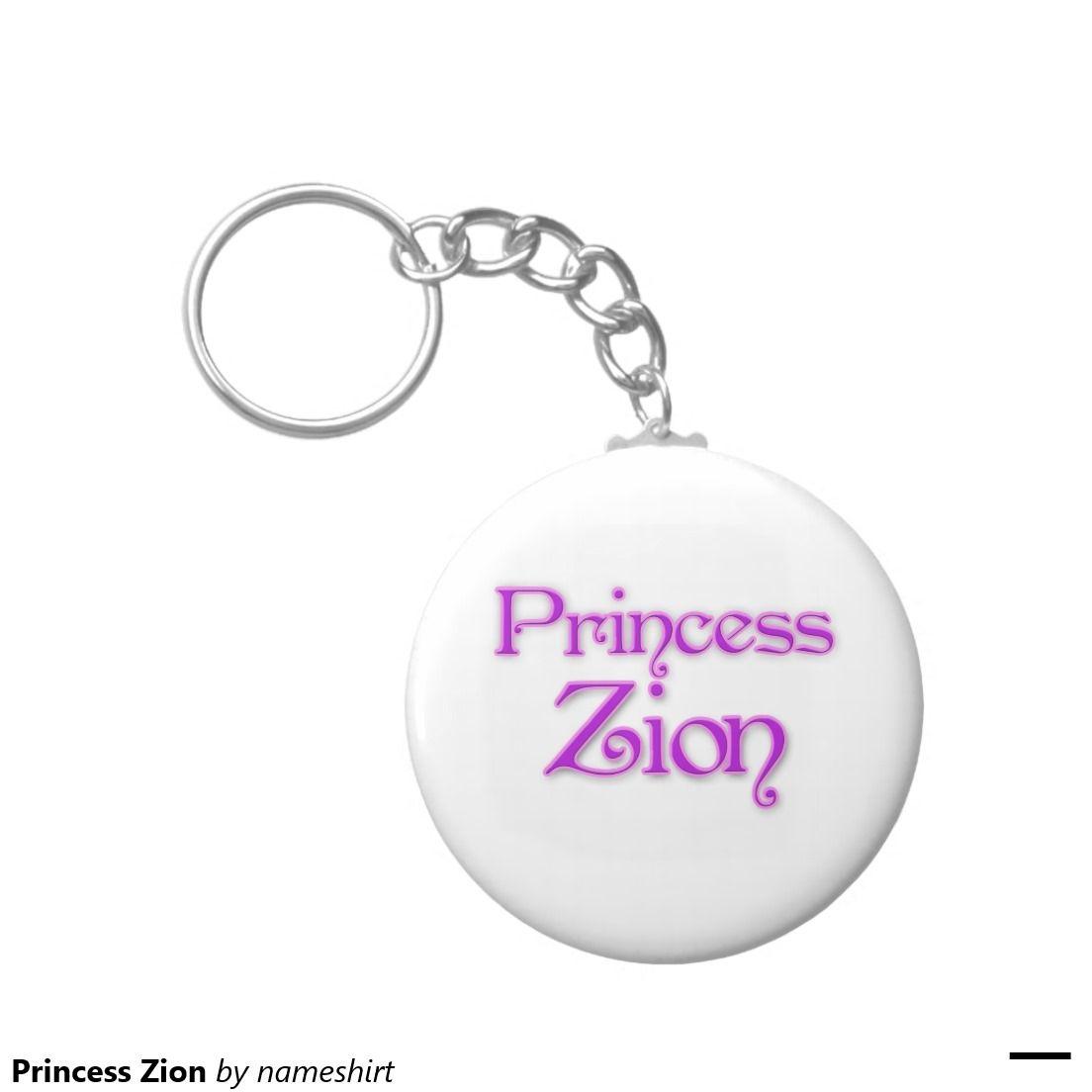 Princess Zion Basic Round Button Keychain