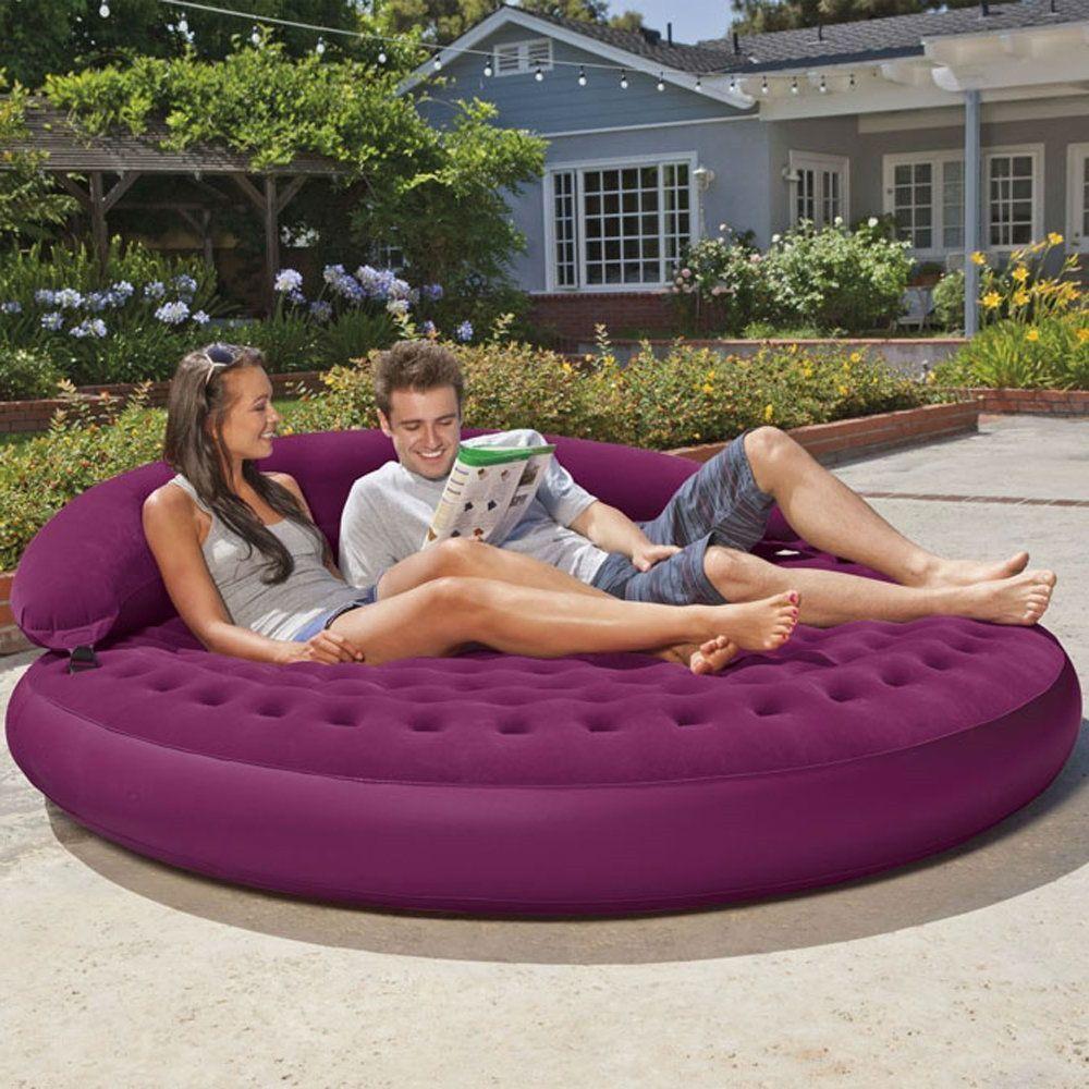 Inflatable Purple Indoor/Outdoor Detachable Backrest