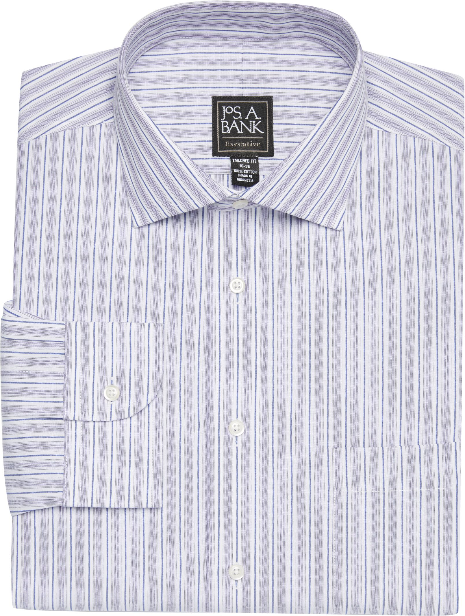 29a50ef664c5 Executive Collection Tailored Fit Spread Collar Stripe Dress Shirt  CLEARANCE Non Iron Shirts, Stripe Dress