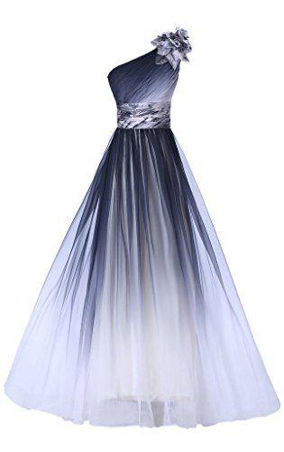 Photo of TUSCANY BRIDE One Shoulder Glamor Evening Dresses Long Color …