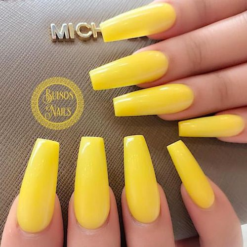 Yellow Nails - 28 Best Yellow Nails for 2018 | Yellow nails, Nail ...
