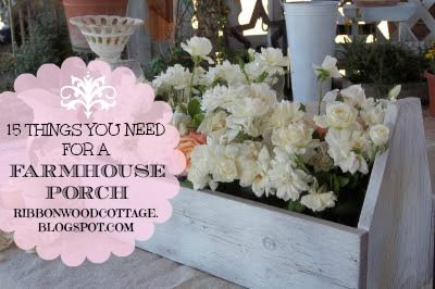 Ribbonwood Cottage: 15 Things you need for a Farmhouse Porch