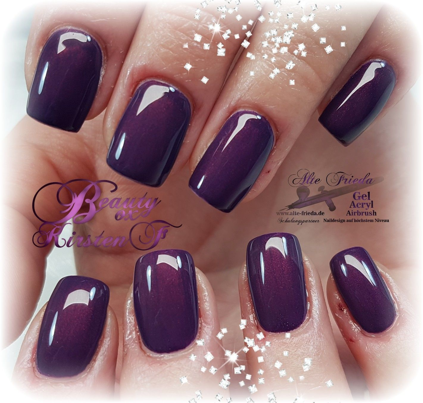 A.F. 075 www.alte-frieda.de Fullcover Nails Nägel Gelnägel   #nails ...