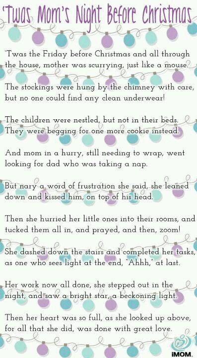 twas moms night before christmas - Twas The Night Before Christmas Poem Funny
