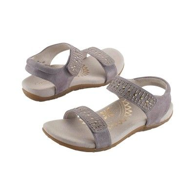 bedc53f090339 Aetrex Maria Studded Quarter Strap in Grey. Aetrex Maria Studded Quarter  Strap in Grey Orthopedic Shoes