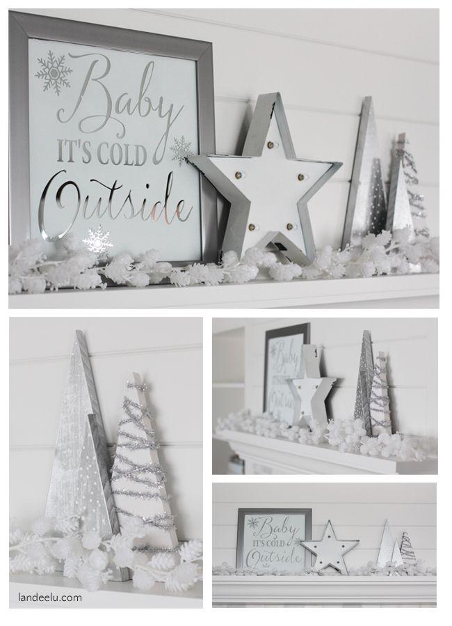 Photo of DIY Mirror Art and Winter White Mantel
