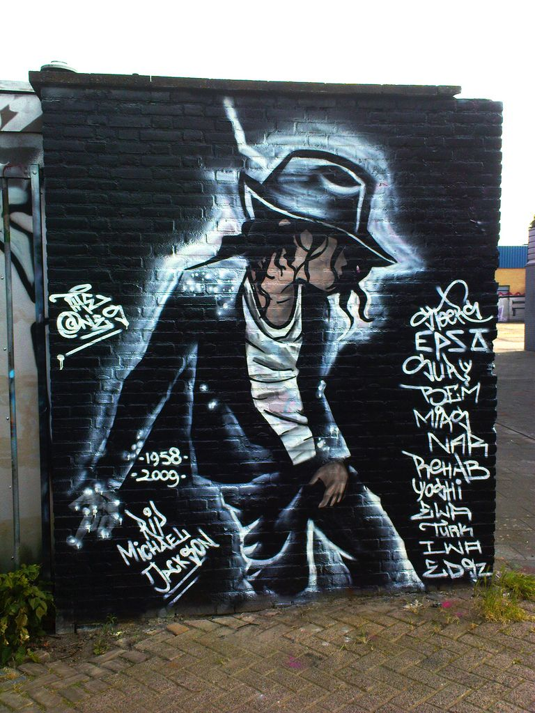 homenajes a mj en forma de graffiti janet michael jackson pop art tilburg the netherlands by ronald dinho via