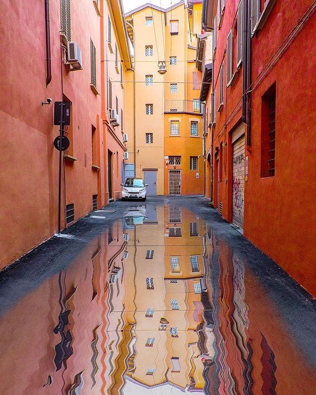 I colori del centro storico! Siamo nel cuore di Bologna