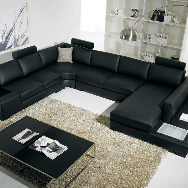 Black Living Room Chairs Leather Sectional Living Room Living Room Sets Furniture Modern Sofa Sectional