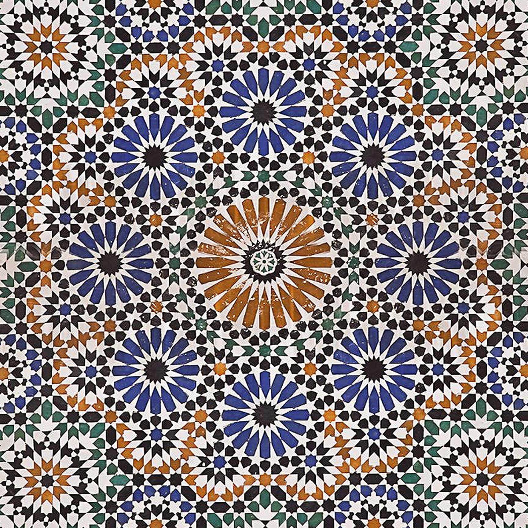 Morocco Mosaic Printed Ceiling Tile Home Decor Mosaic