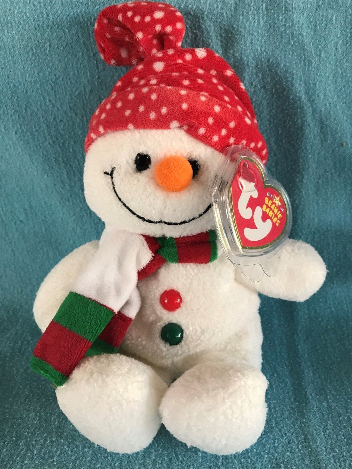 Stockings the Snowman plush Ty Beanie Baby NEW