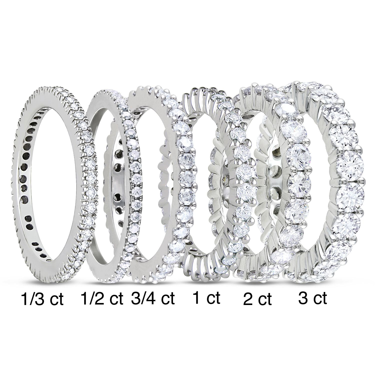 product cz wedding clear zirconia ring eternity engagement band cubic bands with
