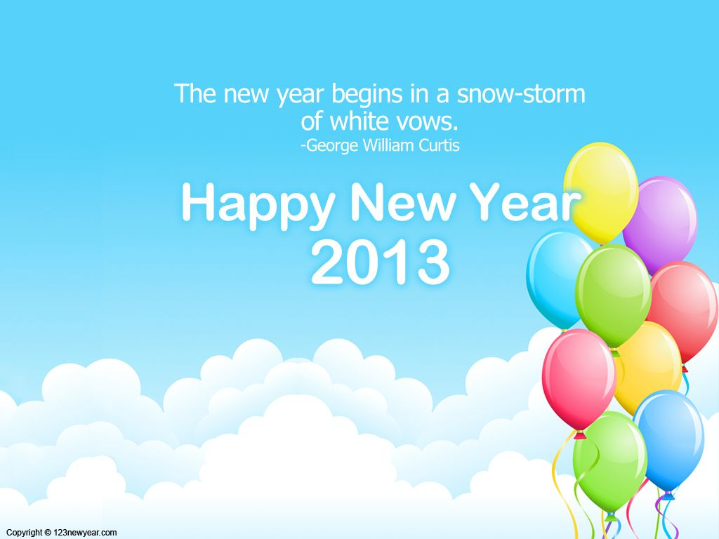 Happy new year 2013 light blue with balloons wallpapers pinterest happy new year to boss new year 2014 wishing cards for boss new year greeting for boss 2014 new year greetings new year 2014 cards for b m4hsunfo