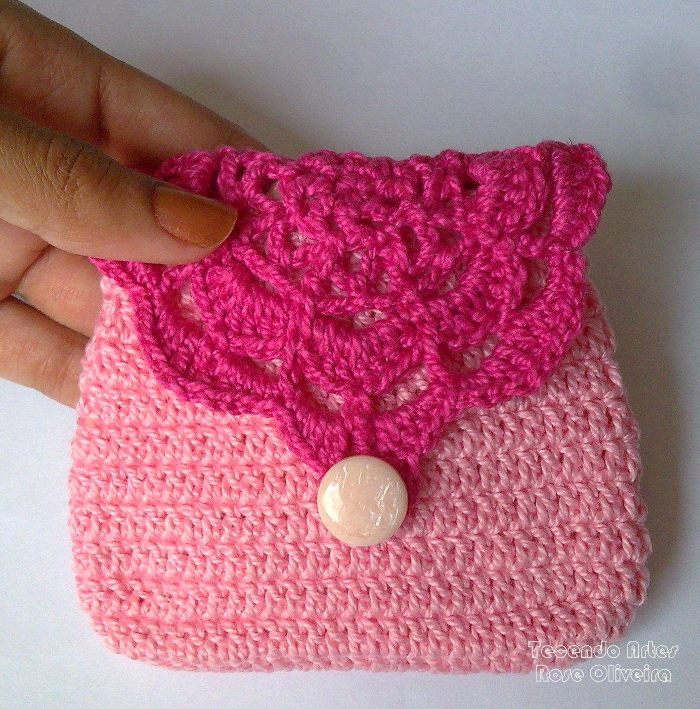 Tecendo Artes em Crochet: Porta Moedas Retrô Coloridas- Lindas ...