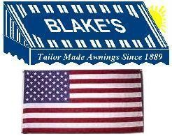 Blake Co Logo | Rockford, Canvas awnings, Flag