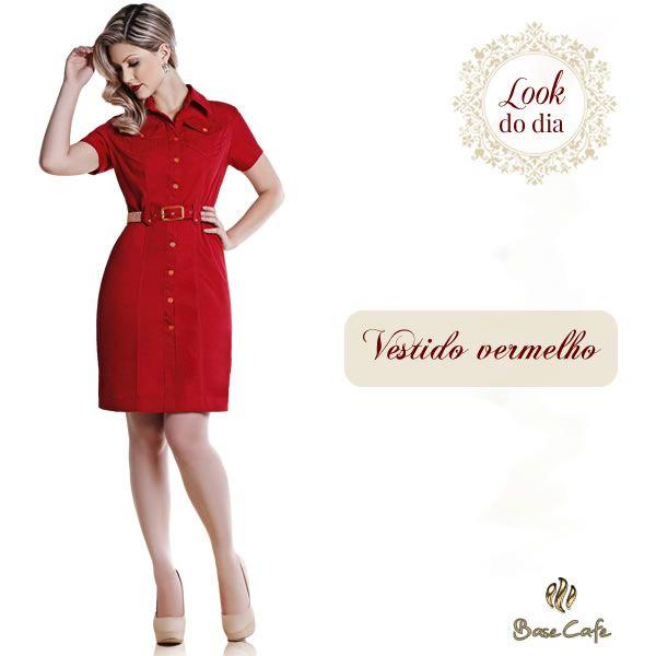 Lindo vestido vermelho da Base Café!