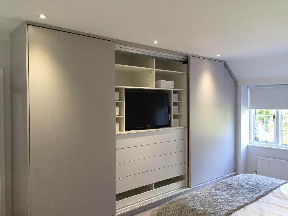 surprising bedroom designs tv wardrobe | Loft room fitted wardrobes- Florence range in 2019 ...