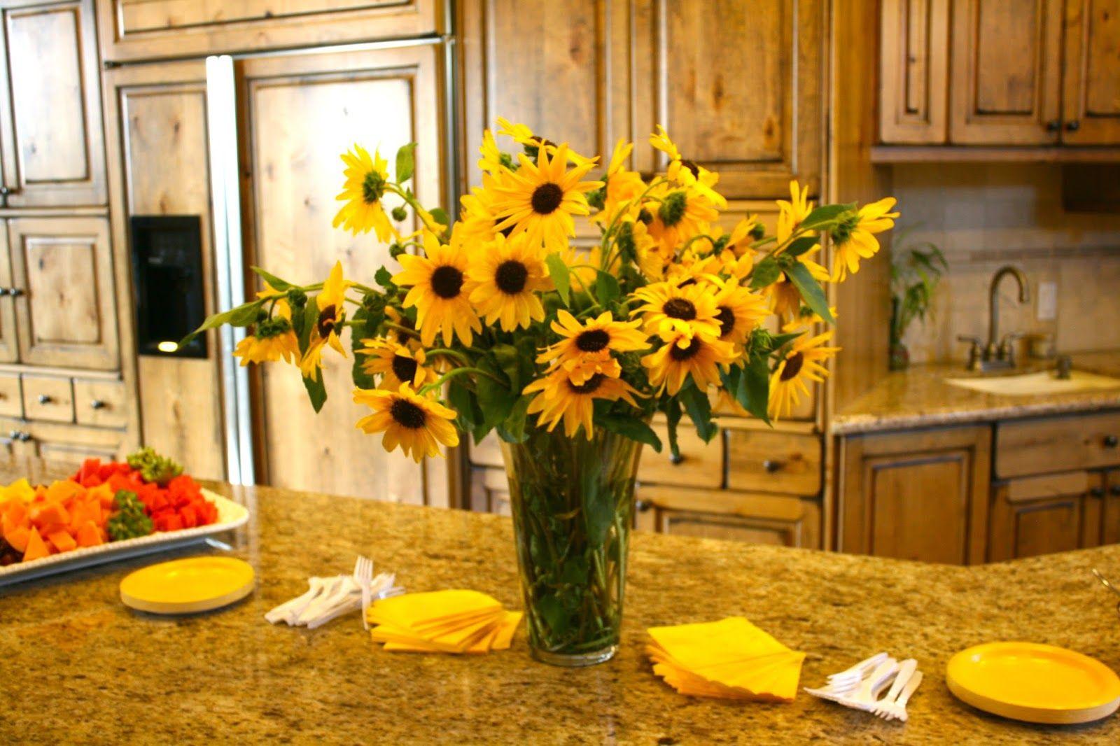 sunflower themed bridal shower Sunflower bridal shower
