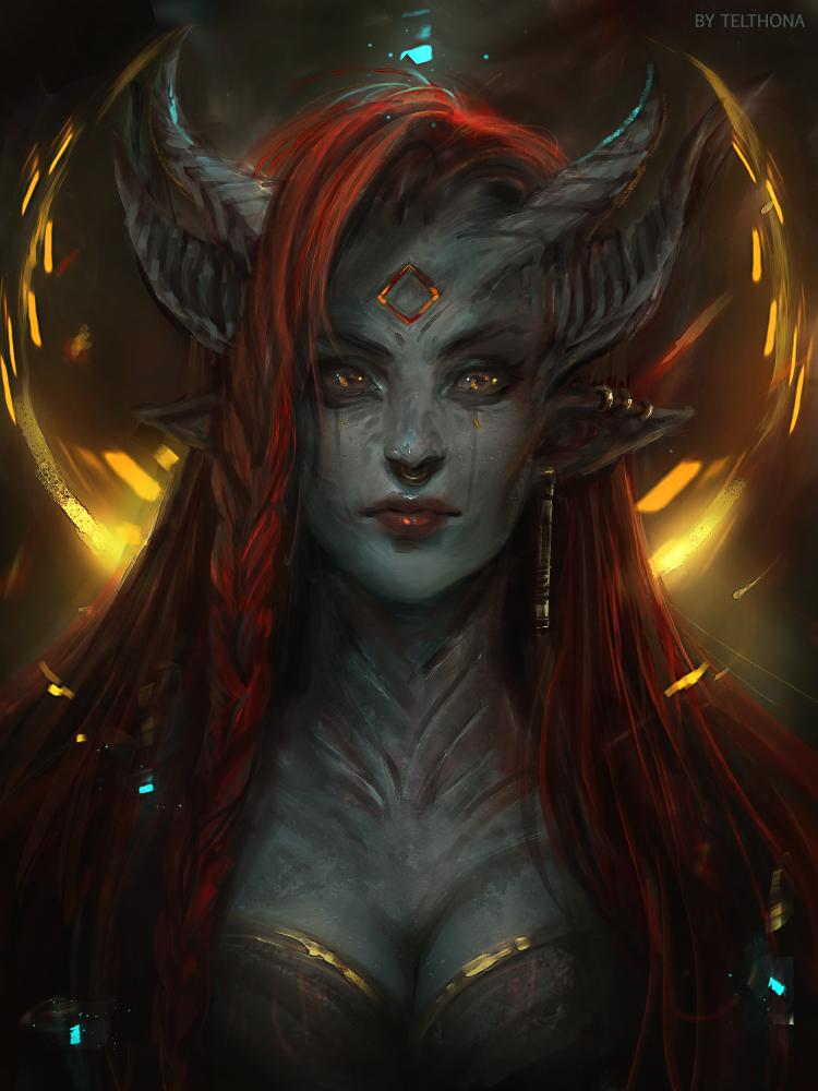 Pin od Kinga P na Demony w 2019 | Demon girl, Fantasy art ...  Pin od Kinga P ...