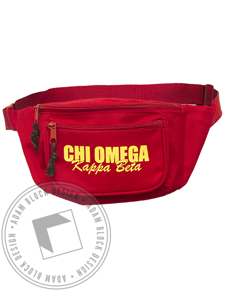 Chi Omega Fanny Pack by Adam Block Design