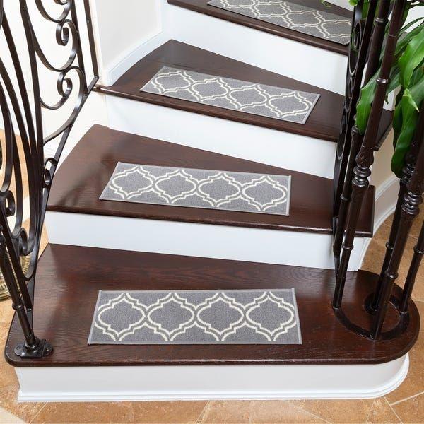 Best Ottohome Patterned Non Slip Pet Friendly Stair Treads Set 400 x 300