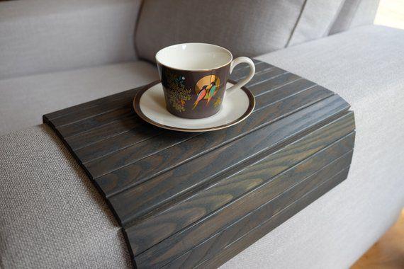 Sofa Tray Table Grey Armrest Tray Sofa Arm Tray