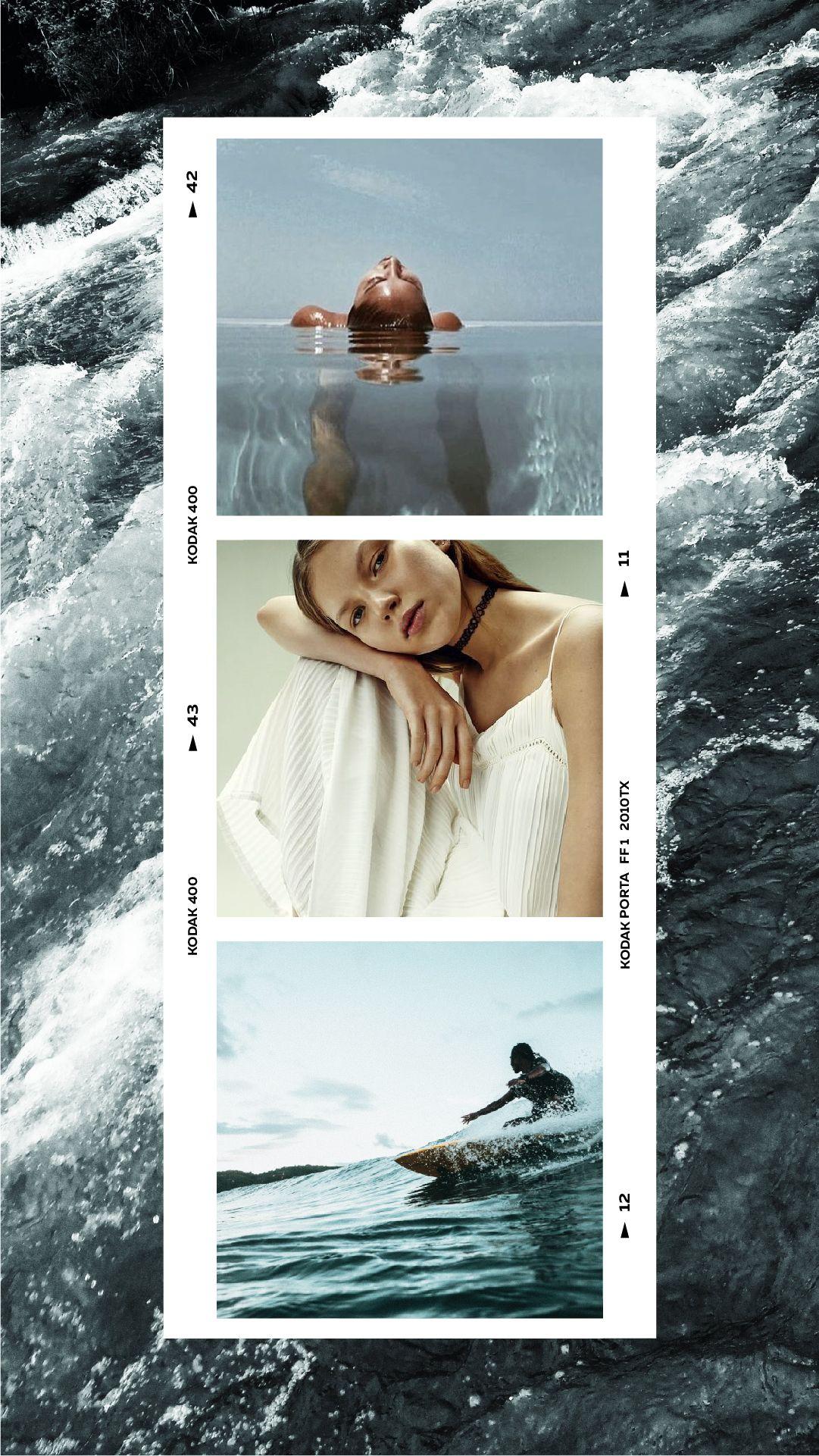 Film frames polaroid instagram stories template unfold
