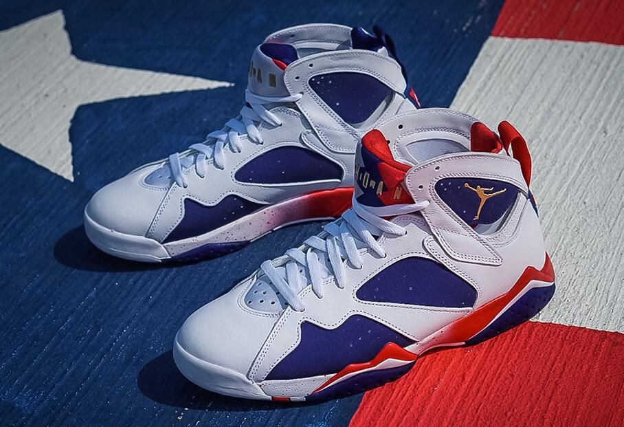 cheap for discount ebc69 c97b3 Air Jordan 7 Olympic Alternate to Drop in Jordan Retailers ...